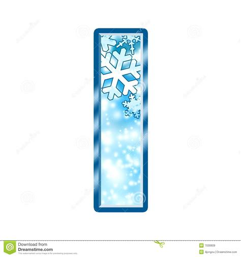 up letter with snow winter alphabet letter i stock illustration image of blur