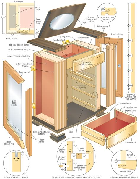 woodworking blueprints woodwork jewelry chest woodworking plans pdf plans