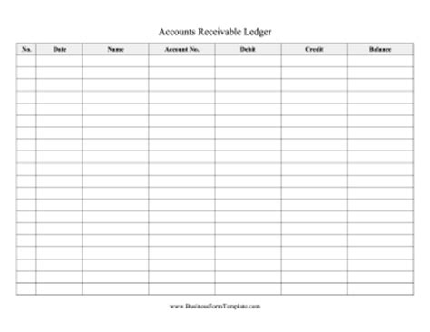 accounts payable ledger template accounts receivable ledger template