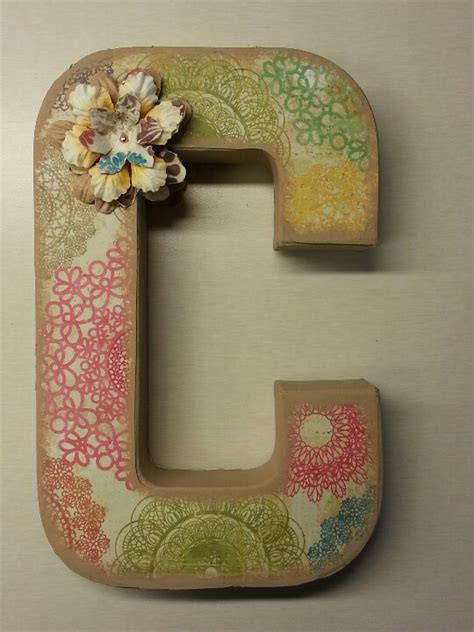 Make Paper Mache Letters - paper mache letter 7 things to do with boxes diy