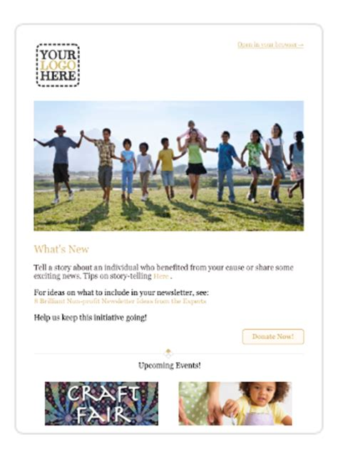 charity newsletter template sumac free non profit newsletter templates