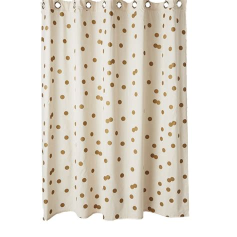 gold polka dot curtains ankit gold polka dot bathroom shower curtain