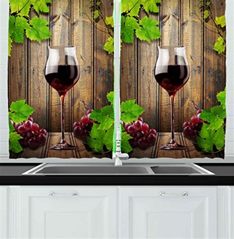 Kitchen Curtains Grapes And Wine Cheap Price On The Wine And Grape Kitchen Curtains