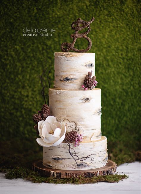 Designing A Desk by Birch Tree Wedding Cake De La Cr 232 Me Creative Studio