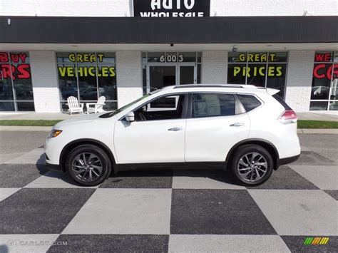 nissan white rogue 2016 pearl white nissan rogue sl 116020925 photo 18