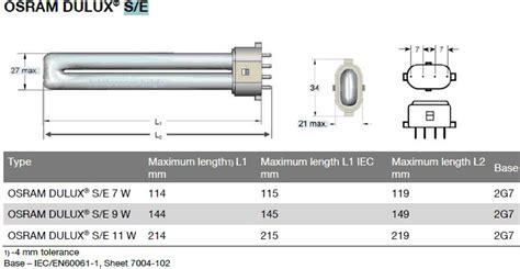 Osram DULUX S / E 9W / 840   Lamp Belgie