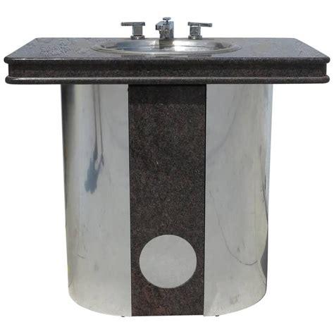 stainless steel bathroom vanity top vintage sherle wagner vanity sink black granite top with
