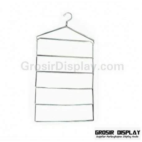 Hanger Jilbab Besi Krom hanger jilbab kerudung syal s kotak krom display toko