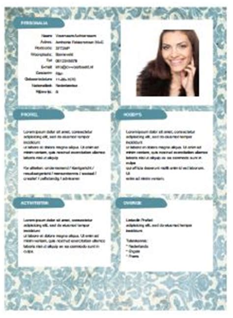 Cv Sjabloon Downloaden 13 best images about gratis cv sjablonen on