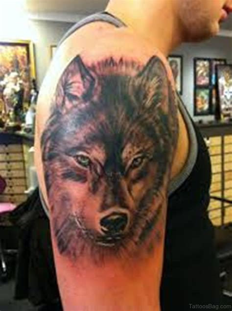 wolf shoulder tattoo 51 wolf tattoos on shoulder