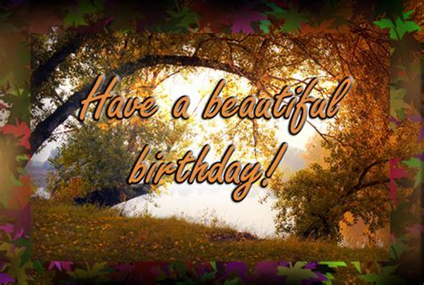 Indian Summer Birthday. Free Happy Birthday eCards