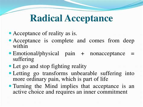 Self Acceptance Worksheets by Radical Acceptance On