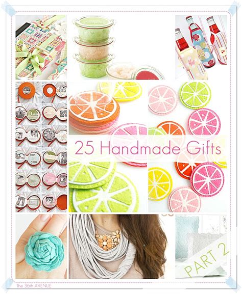 Presents Handmade - 25 handmade gifts 5 the 36th avenue