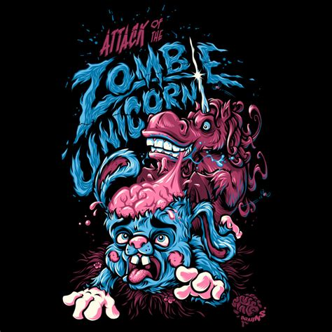 design art zombie attack of the zombie unicorn by design by humans on deviantart