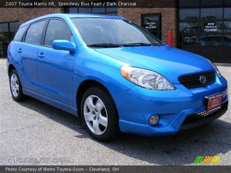 Blue Toyota Matrix Speedway Blue Pearl 2007 Toyota Matrix Xr