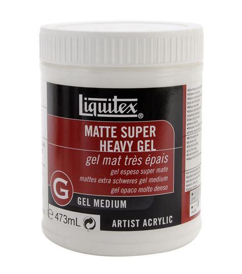 matte gel liquitex heavy matte acrylic gel medium 16 ounces at
