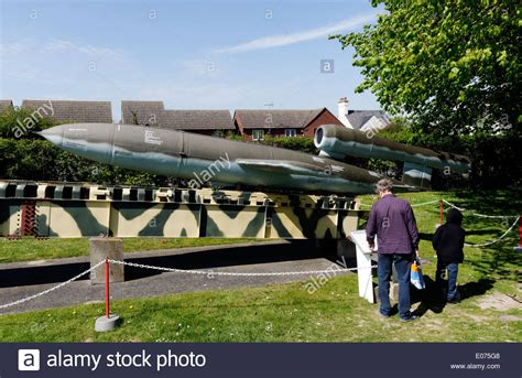 doodlebug bomb a and looking at a v 1 flying bomb or