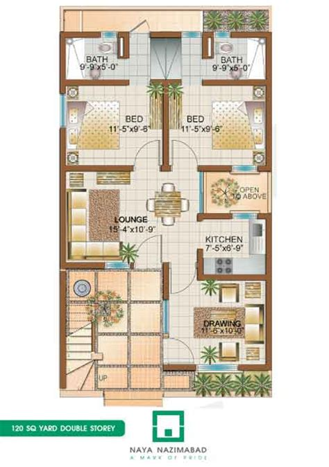 home maps design 400 square yard bungalow 120 sq yards double story ground floor real