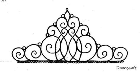 Tiara Template tiara template for cake topper patterns and templates