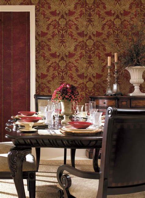 gold wallpaper dining room interior place gold aidi damask wallpaper 25 99 http