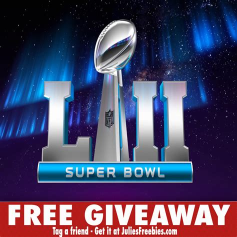 Super Bowl 52 Sweepstakes - 2 winners win a trip to super bowl 52 and more julie s freebies