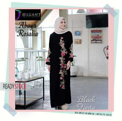 Baju Muslim Gamis Bigsize Hitam Abaya Modern abaya syar i wa 08127 60 888 06 pusat busana muslim