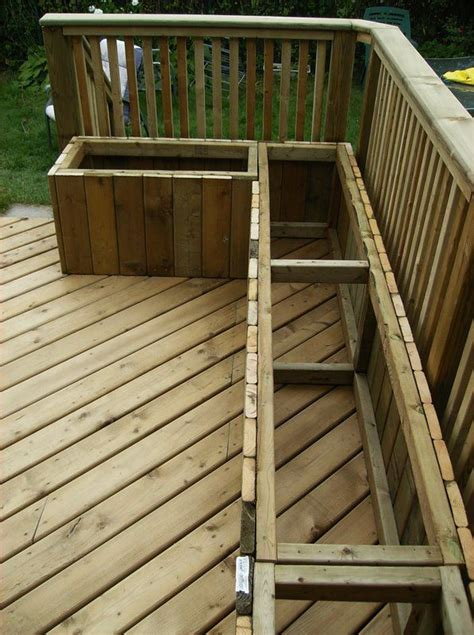 building deck benches woodwork deck bench storage build pdf plans