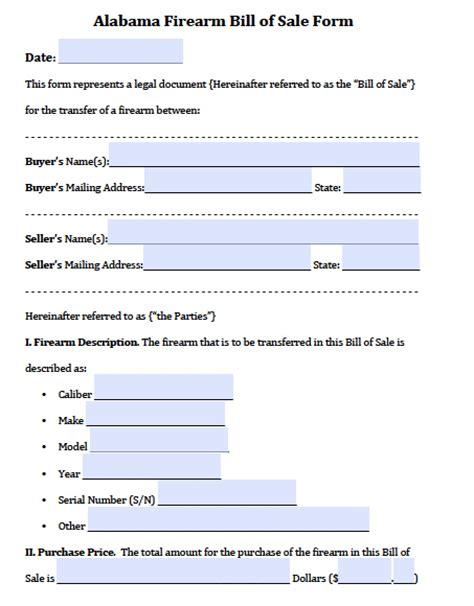 boats for sale in alabama and georgia on craigslist free alabama gun firearm bill of sale form pdf word doc