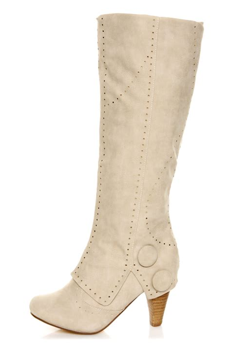 Boots Crem not unofficial perforated foldover knee high