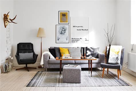 grey scandinavian interior inspiration grey yellow pillows get this look