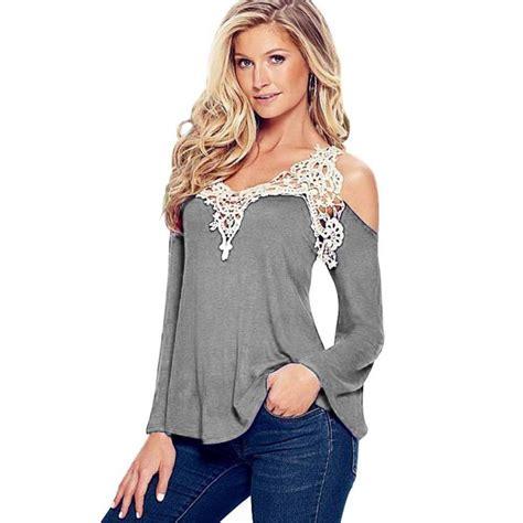 imagenes blusas negras de moda hermosa blusa de moda con enpalme de encaje y mezcla de