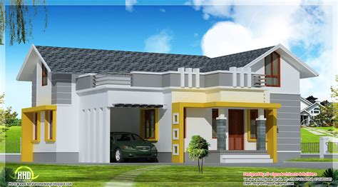 kerala home design 2bhk stylish single floor home in 1200 sq feet kerala home