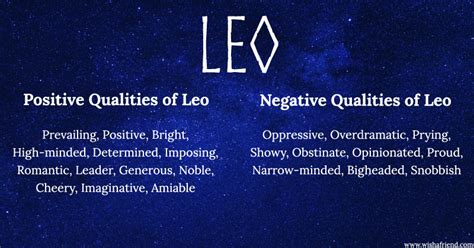 find positives and negatives of your zodiac sign leo