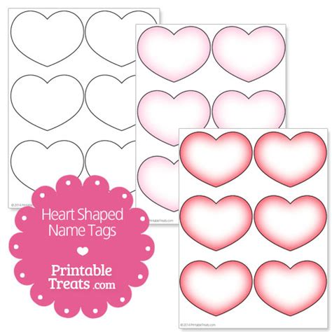 printable heart shaped name tags printable heart shaped name tags printable treats com