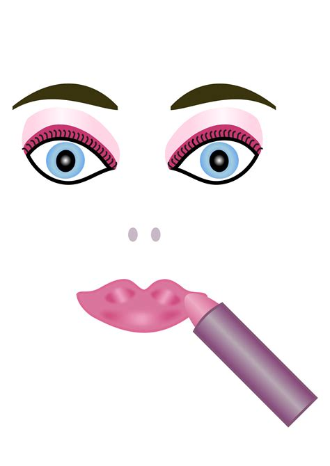 Maskara Transparan clipart makeup