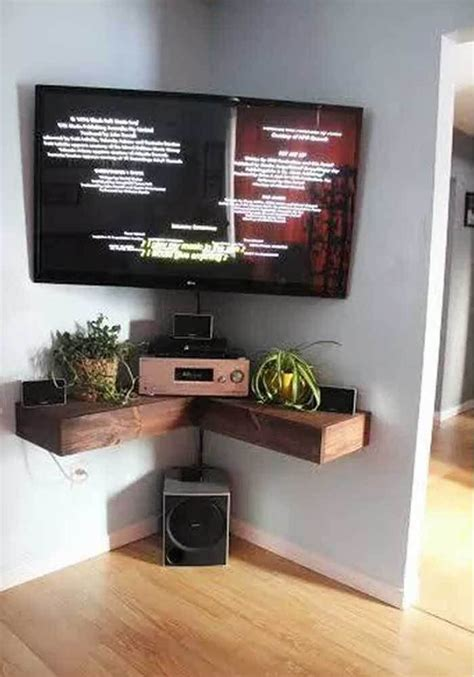 Tv Accessories Wall Shelf by 25 Best Ideas About Corner Tv Wall Mount On