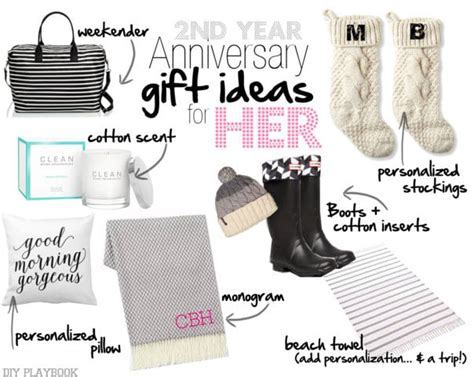2nd Wedding Anniversary Gift Ideas for Him   Her   The DIY