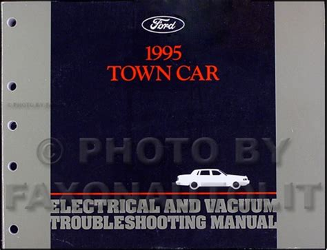 online auto repair manual 1995 lincoln town car engine control 1995 lincoln town car electrical and vacuum troubleshooting manual