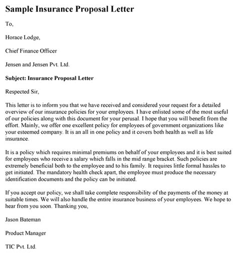 Health Insurance Marketing Letters Insurance Letter