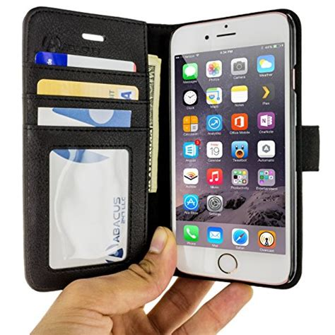 abacus24 7 iphone 6 and 6s wallet with rfid blocking flip cover black in the uae see