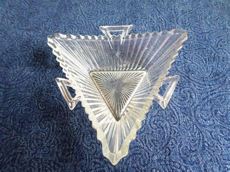 triangle pattern glass items similar to heisey ridgeleigh pattern elegant