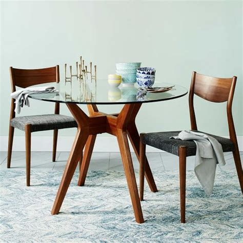 Small Round Glass Dining Table Jensen Round Glass Dining Table West Elm