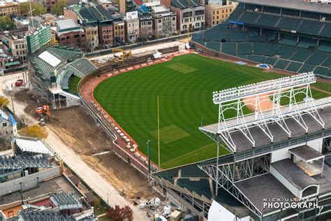 check out these aerial of the wrigley field