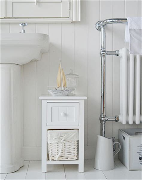 Small Bathroom Storage Furniture Bar Harbor Small White Bathroom Storage Furniture With 3 Drawers