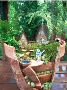Small Chiminea Clay Beyond Fairy Gardens Diy Cracked Flower Pot Landscapes