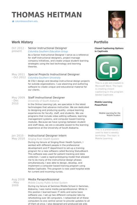 Senior Web Designer Resume Sample by Instructional Designer Resume Samples Visualcv Resume