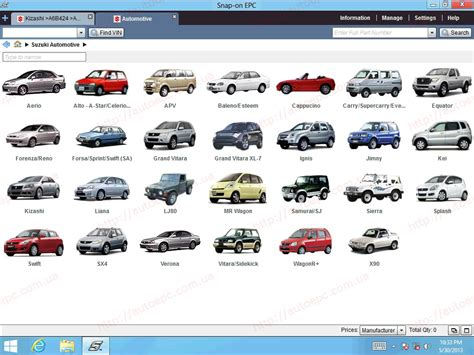Suzuki Auto Parts Suzuki Worldwide Epc5 2013 Spare Parts Catalog