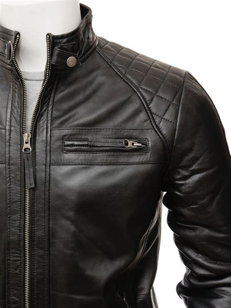 mens black leather motorcycle jacket men s black biker leather jacket sibiu men caine