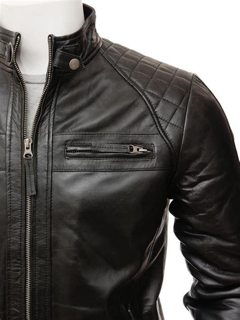 mens leather biker jacket men s black biker leather jacket sibiu men caine