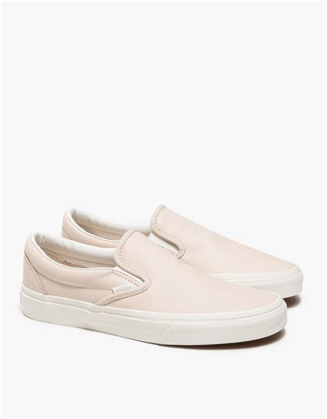 Slip On Pink vans classic slip on leather in pink lyst